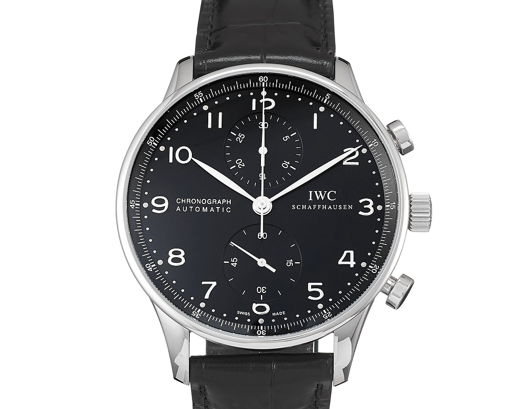IWC IW3714-38 Portuguese Chrono-Automatic Stainless Steel / Black